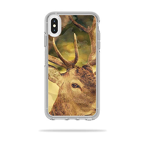MightySkins Skin Compatible with OtterBox Symmetry iPhone Xs Max Case - Deer Camo | Protective, Durable, and Unique Vinyl Decal wrap Cover | Easy to Apply, Remove, and Change Styles | Made in The USA