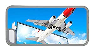Customized free shipping iphone cover Aircraft flying out of the screen TPU Transparent for Apple iPhone 5C