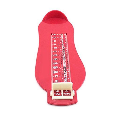 GGG Kids Bayby Feet Foot Length Ruler Growing Measureing Scale Tool Kits Red