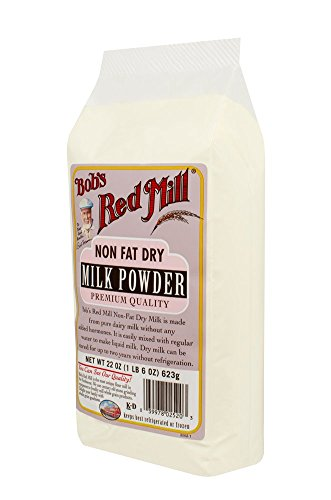 Bob's Red Mill Non Fat Dry Milk Powder, 22 Ounce (Pack of 4)