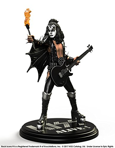 Kiss Limited Edition - Knucklebonz KISS Limited Edition Collectible Statue - Alive The Demon Rock Iconz, Officially Licensed by KISS, Includes CoA