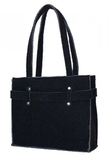 Trachtentasche Filz Tasche Filztasche Shoppertasche Handtasche groß schwarz