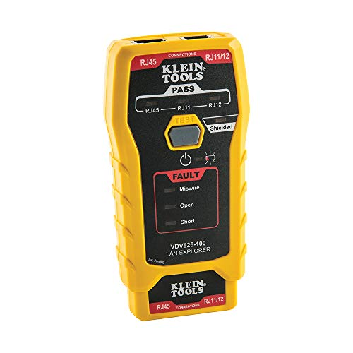 Klein Tools VDV526-100 Network LAN Cable Tester, VDV Tester, LAN Explorer with - Tester Lan Cable Network