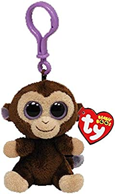 c9a56e6a4ed Amazon.com  WATOP Ty Beanie Boos Big Eyes Plush Keychain Toy Doll Fox Owl  Dog Unicorn Penguin Giraffe Leopard Monkey Dragon with Tag 4  10cm  (Brown  Monkey ...