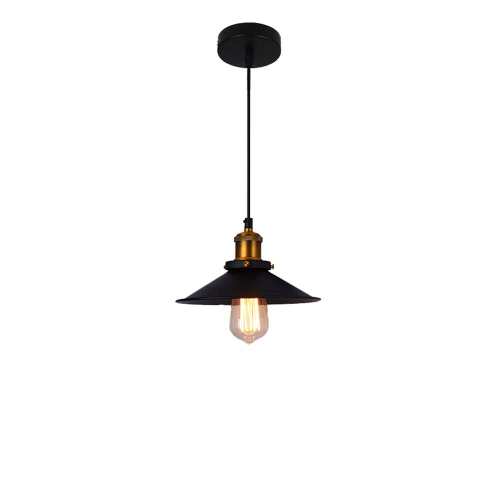 Home Chandelier, American Retro Style Pendant Lamp Personality Restaurant Lid Creative Bar Ceiling Lamp Single Head LOFT Pendant Light Cafe Restaurant Living Room Beautiful Lighting (Color : B)