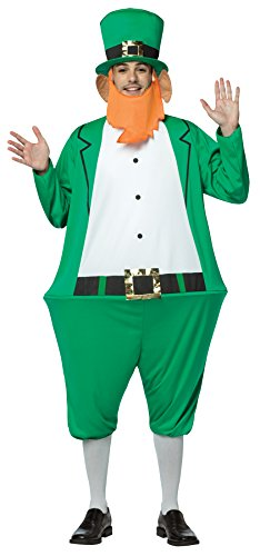 Leprechaun Movie Halloween Costumes (UHC St Patrick's Day Leprechaun Hoopster Jumpsuit w/ Hat & Beard Fancy Costume, OS)