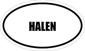 "6"" HALEN name oval Euro style MAGNET for any metal surface."