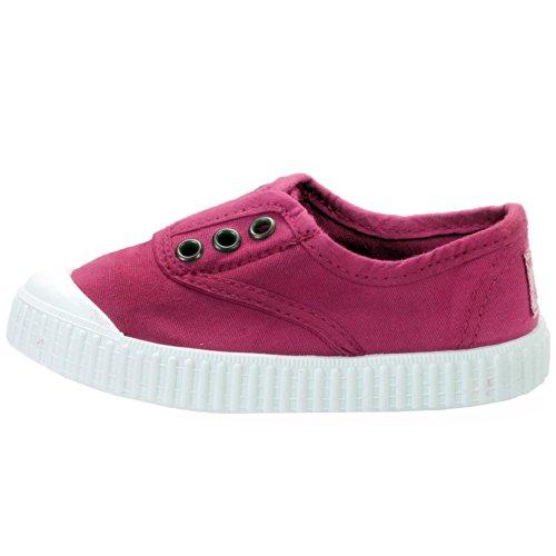 Victoria - Zapatillas de casa de tela para niños Fuchsia