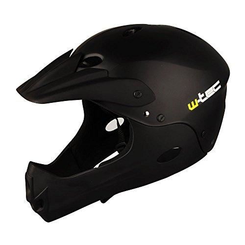 Fahrradhelm BMX Freeride Fullface Helm schwarz Gr 55-57