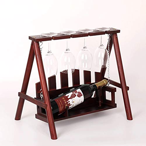 JIU Swing Wine Rack Solid Wood Goblet Storage Stand European-Style Floor-Standing Desktop Decoration Crafts Living Room Wine Cellar Kitchen Display Stand