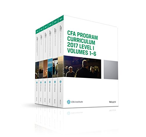 CFA Program Curriculum 2017 Level I, Volumes 1 - 6 (CFA Curriculum 2017) by Wiley