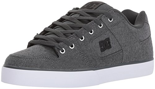 DC Men's Pure TX SE Skate Shoe, Grey Ash, 9.5 D US