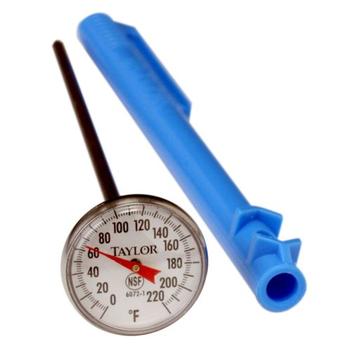 Taylor Precision 6072N Pocket Dial Reading Thermometers, Temperature Range from 0 Degrees F to 220 Degrees F, Stainless Steel (Steel Stainless Pocket Thermometers)