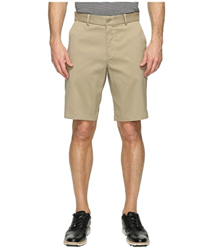 Nike Flat Front Stretch Men's Golf Shorts (36) Khaki (Front Shorts Golf Flat)