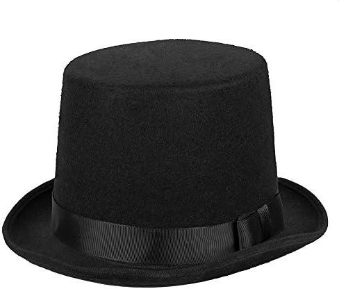 Cappello a cilindro raso top quality nero sposo