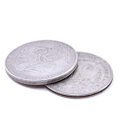 Morgan Coin Set - Enjoyer Flipper Coin Morgan Magic Tricks Coin into Bottle Accessories Professional Magic Props