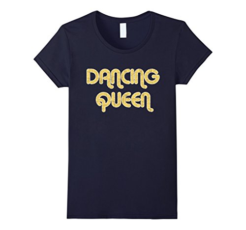 Womens DANCING QUEEN Vintage Large Print 1970's T-Shirt XL - 1970 Retro Fashion