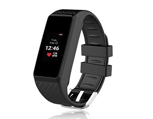 InChor Heart Rate Monitor Smart Bracelet IP67 Waterproof Colorful OLED Touchscreen Display Fitness Tracker...
