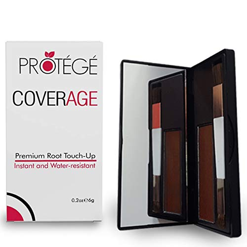 Premium Root Touch Up - CoverAge - Instant Temporary Root Concealer to Cover Up Roots and Grays Between Salon Trips - Water Resistant - Color Roots like Magic Without Spray - Auburn