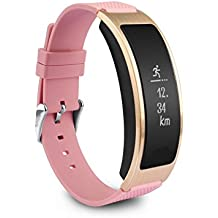 Smart Bracelet Track Activity with Heart Rate Momitor,Blood Pressure Sleep Monitor Pedometer Calorie Burned Fitness Tracker Wristband Smart Watch for iPhone & Android