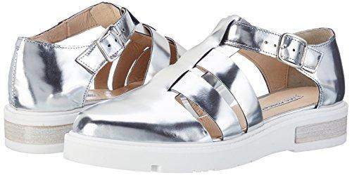 argento Para Nizza Sandalias Foscati Silver Mujer Lea Plateado wY4TA