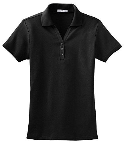 Port Authority L520 Ladies Silk Touch Interlock Polo - Black - XXX-Large
