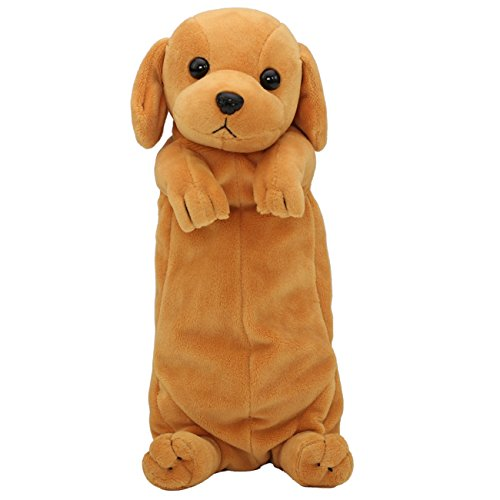 Dog Shaped Plush Animal Pencil Case Stationery Case Cartoon Cute Bag Pouch for Teen Girls Boys Students (Golden Retriever)