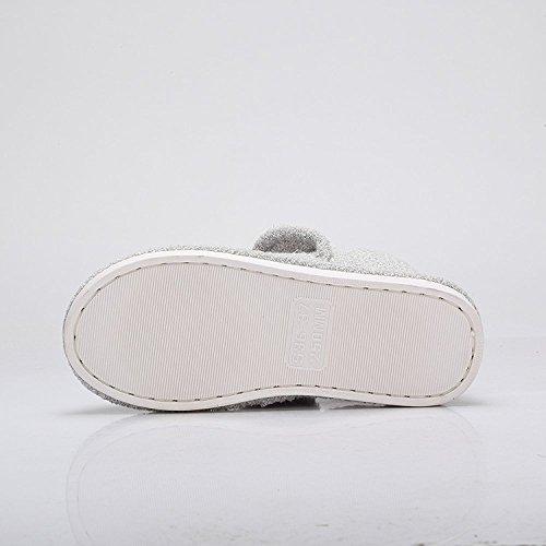 Cammello Donna Inverno Caldo Pile Anti-scivolo Casa Pantofola Invernale Morbido Accogliente Scarpa Indoor Grigio