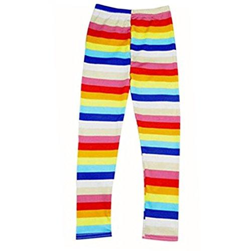 Ecosin® Baby Girl Stretch Render Children Trousers Tenths pants Leggings (6T, Multicolor)