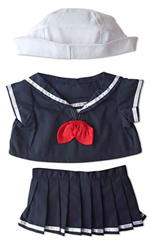 "Sailor Girl Outfit Teddy Bear Clothes Fits Most 14"" - 18"" Build-a-bear, Vermont Teddy Bears, and Make Your Own Stuffed Animals from Stuffems Toy Shop"