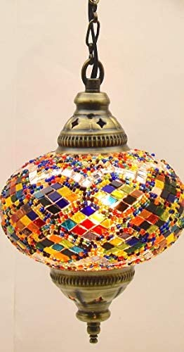 Choose from 5 Designs Turkish Moroccan Mosaic Glass Chandelier Lights Hanging Ceiling Tiffany Lamp