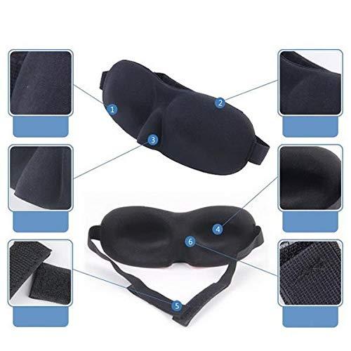 3D Memory Sponge Sleep Mask Travel Sleeping Eye Mask Sleeping Blindfold Cache yeux Masque de nuit