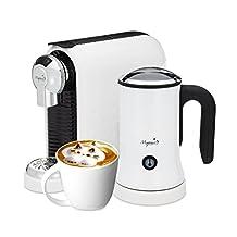 Latte Machine - For Nespresso Compatible Capsules - By Mixpresso (White)