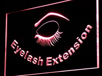 ADV PRO I958 R Eyelash Extension Beauty Salon Neon Light Sign