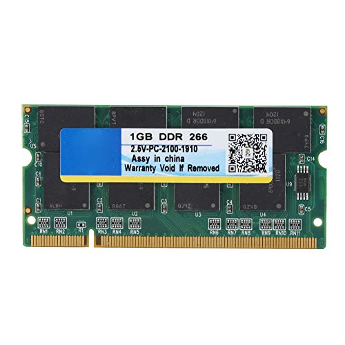 - Laptop Memory DDR, 1G 266 MHz 200 Pin Laptop RAM for DDR PC-2100 Notebook Full Compatibility for Intel/AMD