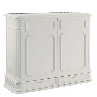 TV Lift Cabinet Extra Large for 40-52 inch Flat Screens (White)