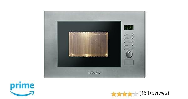 Candy MIC20GDFX - Microondas de encastre con grill, 20 L, 800 W / 1000 W, color gris