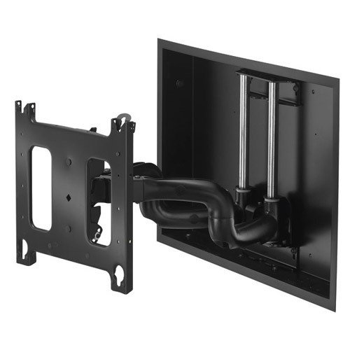 Chief PNRIW Series PNRIW-2000B - Mounting kit ( dual swing arm ) for flat panel - screen size: up to 63