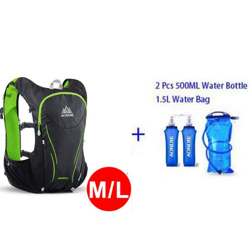 POJNGSN 5L Outdoor Sports Backpack Women/Men Hydration Vest Pack for Exchange Cycling Hiking Running Water Bag ML All