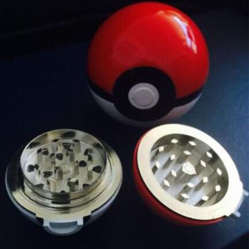 New 55mm 3 Layer Zinc Alloy Pokeball Pokemon Tobacco Mil Spice Herb Grinder Gift (Elephant Spatula compare prices)