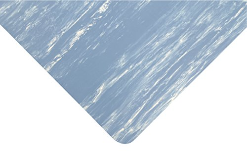 NoTrax Rubber 470 Marble Sof-Tyle Anti-Fatigue Mat, for Dry Areas, 3' Width x 5' Length x 1/2'' Thickness, Blue by NoTrax