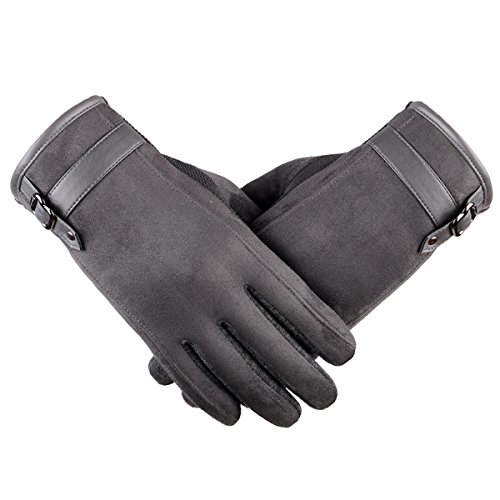 Touch Screen Leather Gloves, iKNOWTECH Premium Women's Su...