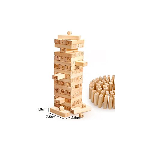 Kayiyasu カイヤス ジェンガ 数字 パーティーゲーム 組み立てる 積み木 子ども 大人 おもちゃ テーブルゲーム 021-lzgy-d-21354265(画像より 木製51本 )の商品画像
