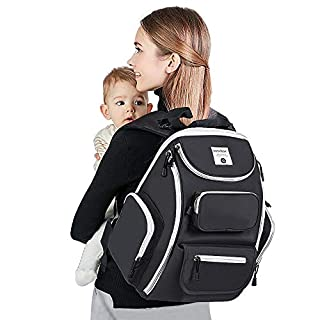 Diaper Bag Backpack, SpringBuds Multi-Function Waterproof Travel Backpack, Maternity Nappy Changing Bags with Large Capacity