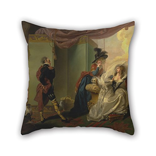 Uloveme Pillow Covers 20 X 20 Inches / 50 By 50 Cm(two Sides) Nice Choice For Living Room,teens Boys,family,bar,lover,chair Oil Painting Johann Heinrich Ramberg - Olivia, Maria And Malvolio From 'Tw (Miller Light Bar Stool)