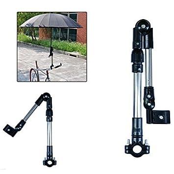 philna12 bicicleta silla de ruedas Stroller conector bicicleta paraguas soporte para pantalla plana soporte (negro): Amazon.es: Deportes y aire libre
