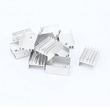 Amplificador de potencia Transistor IC de aluminio del disipador de calor 20 x 15 x 10