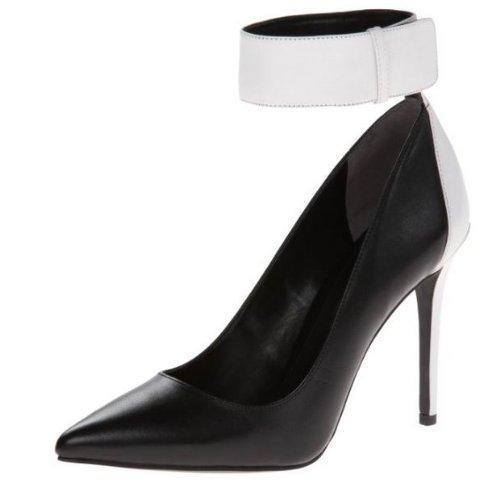 Enzo Angiolini Womens Fastir Robe Pompe Noir / Blanc