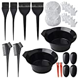 Pengxiaomei Hair Dye Coloring Kit, 26pcs Salon Hair Dyeing DIY Tool Hair Tinting Bowl Dye Brush Disposable Gloves Cape Ear Cover for Salon and Home Use Hair Coloring