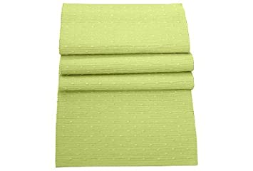 100% Cotton Soft Lime Green Table Runner